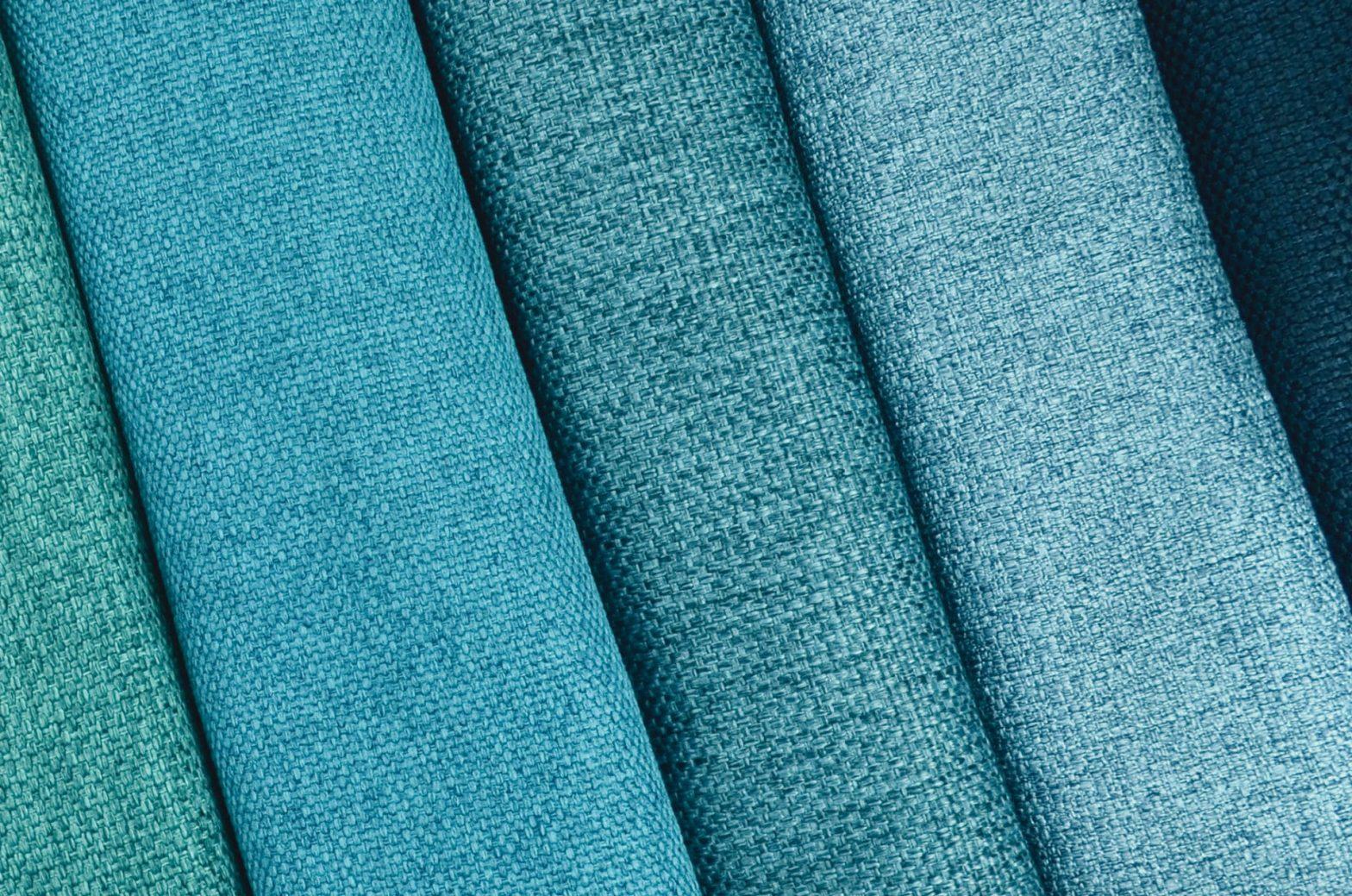 Tecidos Mystic em tons de azuis Promex Decor