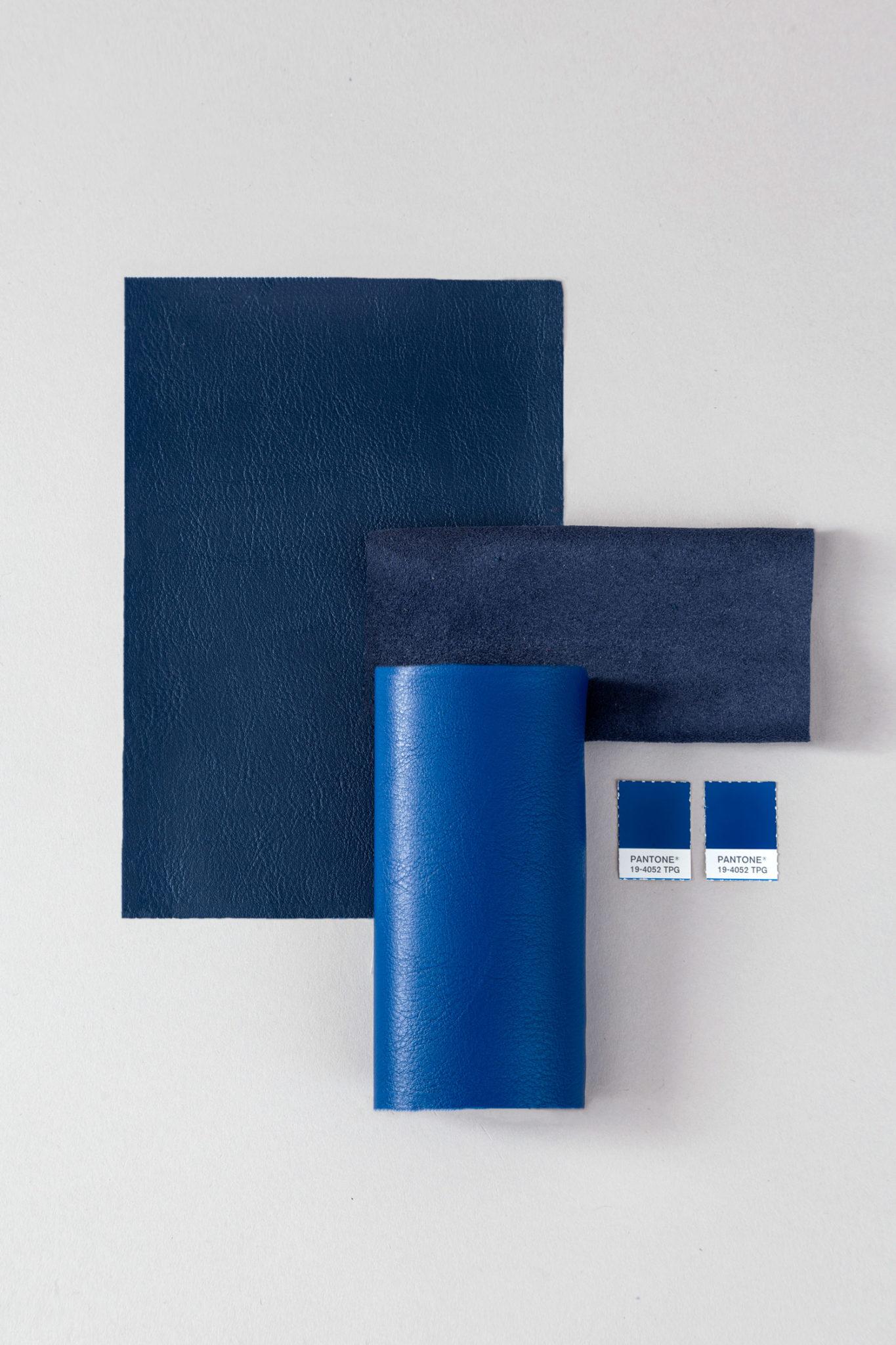 Composição de tecidos em tons azuis - Promex Decor